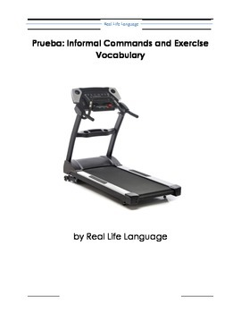 Informal Commands and Exercise Vocabulary Quiz, Handout and Dramatization