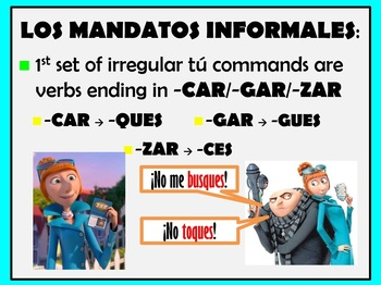 Informal Commands (tu and vosotros)