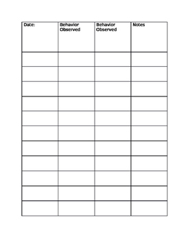 Informal Data Sheet
