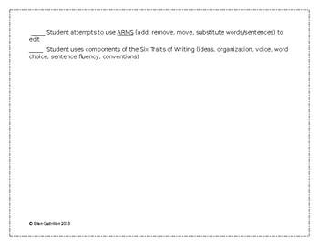Informal ELA Teacher Checklist