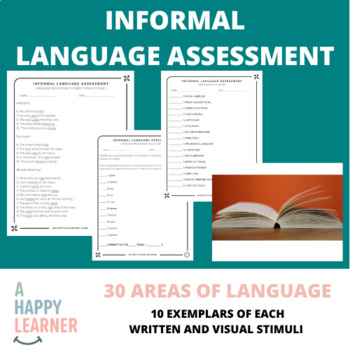 Informal Language Assessment for Speech Therapists