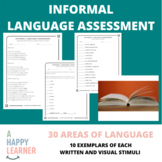 Informal Language Screener/Assessment for Speech Therapy