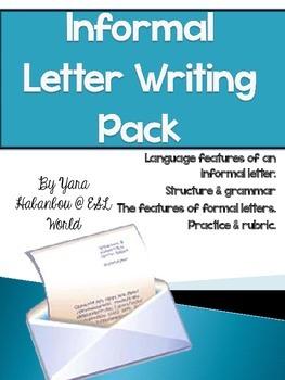 Informal Letter Guided Writing Pack ESL & Grades 4-6