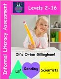 Assessment for Literacy - Informal (Basic - Advanced) (OG)
