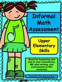 Informal Math Assessment