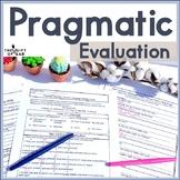 Informal Pragmatic Assessment   Pragmatic Checklist