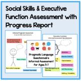 Informal Pragmatic Language Assessment & Social Skills Progress Report BUNDLE