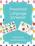 Informal Preschool/Kindergarten Language Screener for Speech Therapy