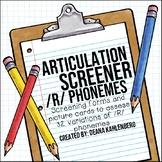 Informal /R/ Screener
