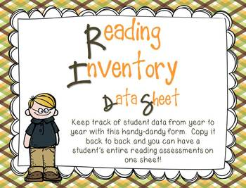 image about Printable Informal Reading Inventory titled Everyday Reading through Stock Information Sheet