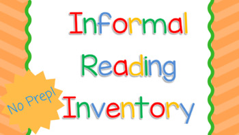 graphic relating to Printable Informal Reading Inventory identified as Casual Studying Stock Worksheets Schooling Elements TpT