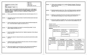Common Core Reading Assessments for Grades 3-5