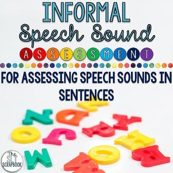 Informal Speech Sound Assessment- Sounds in Sentences