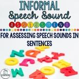 Informal Speech Sound Assessment for SLPs- Sounds in Sentences