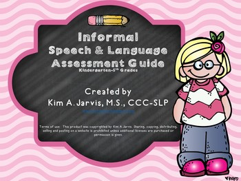 Informal Speech and Language Assessment Guide