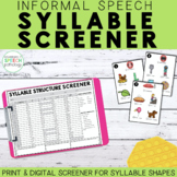 Informal Syllable Structure Screener