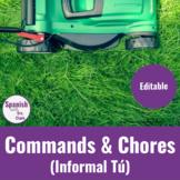 Informal Tú Commands & Chores - Unit Resources (EDITABLE)