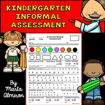 Informal Teacher Assessment for Kindergarten - FREEBIE