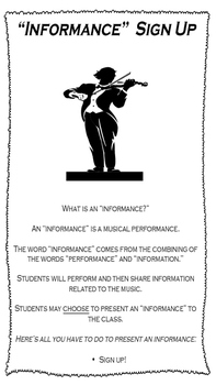 Informance (Informational Musical Performance) Poster