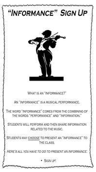 Informance (Informational Musical Performance) Poster