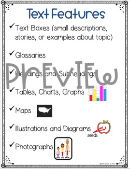Information Anchor Charts - Grade 5 - Writing Workshop Units of Study