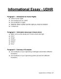 Information Essay Outline - UDHR