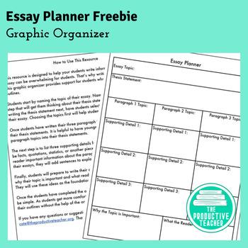 Information Essay Planner Freebie