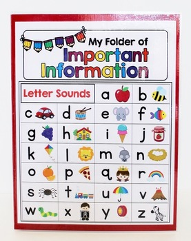 Information Folders - Mini Office - Student Reading, Writing and Math Resources