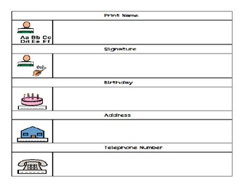 Information Forms- Functional Skills