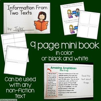 Information From Two Texts Interactive Mini Book {RI.4.9}