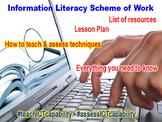 Information Literacy Scheme of Work