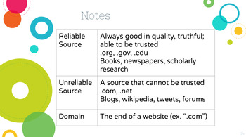 Reliable vs. Unreliable Sources Full Lesson! Which Sources Can I Trust?