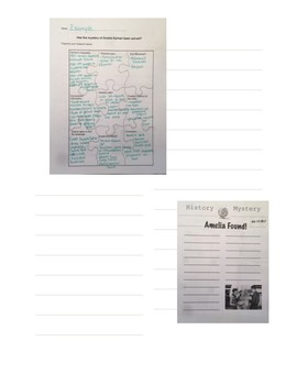 Information Organizer for Amelia Earhart Newspaper Article