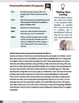 Reading Information Paragraphs — OSSLT Prep — interactive