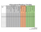 Information Reading Checklist