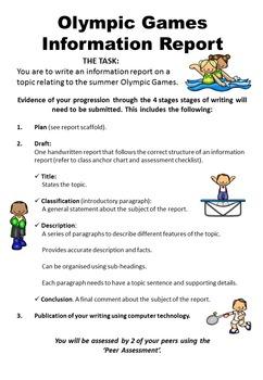 Information Report Assessment Rubrics
