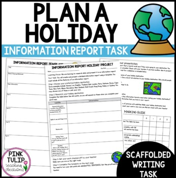 Information Report Assessment Task, Travel Research Project.  Inquiry Based.