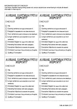 Information Report Checklist