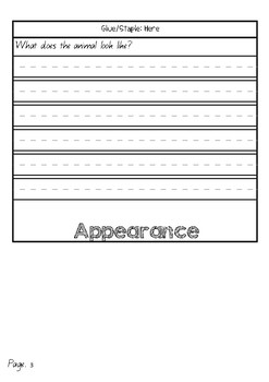 Information Report Flip Book (Echidna)