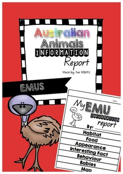 Information Report Flip Book (Emus)