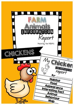 Information Report Flip Book Farm Animals (Chickens)