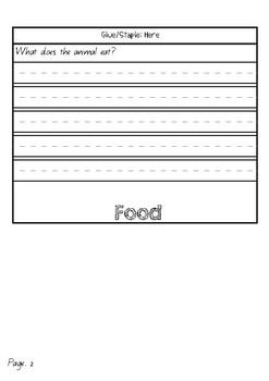 Information Report Flip Book Farm Animals (Cows)