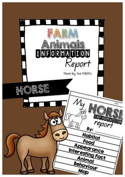 Information Report Flip Book Farm Animals (Horse)