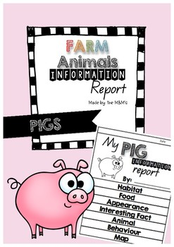 Information Report Flip Book Farm Animals (Pigs)