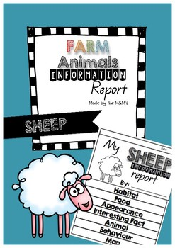 Information Report Flip Book Farm Animals (Sheep)