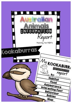Information Report Flip Book (Kookaburras)