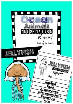 Information Report Flip Book Ocean Animals (Jellyfish)