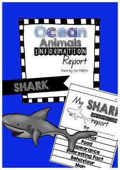 Information Report Flip Book Ocean Animals (Shark)