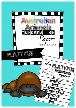 Information Report Flip Book (Platypus)