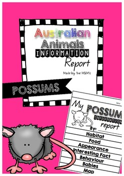 Information Report Flip Book (Possums)